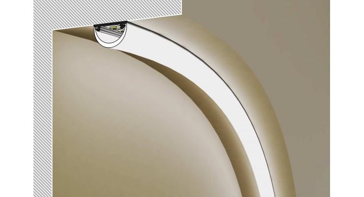 Profilo in alluminio ARC12 grigio raw