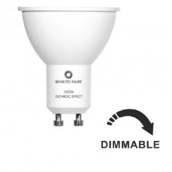 Faretto led HOOK Dimmerabile GU10 4000K 6W 220V 60º