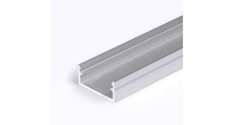 Profilo in alluminio BEGTON12 grigio anodizzato
