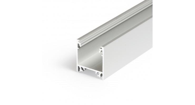 Profilo in alluminio LINEA20 grigio anodizzato