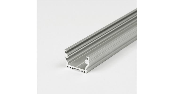Profilo in alluminio UNI12 grigio anodizzato