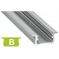 Profilo in alluminio B grigio