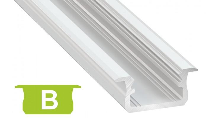 Profilo in alluminio B bianco