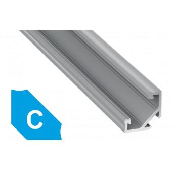 Profilo in alluminio C grigio
