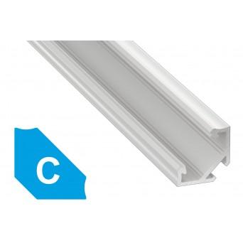 Profilo in alluminio C bianco