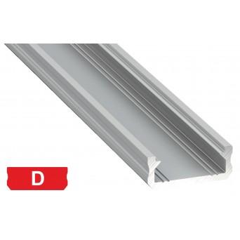 Profilo in alluminio D grigio