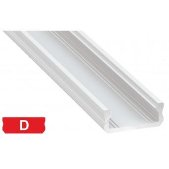Profilo in alluminio D bianco