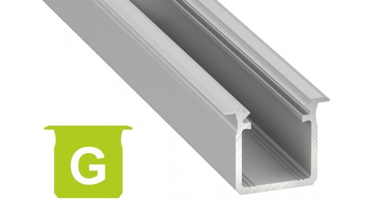 Profilo in alluminio G grigio