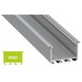 Profilo in alluminio INSO grigio