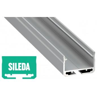Profilo in alluminio SILEDA grigio