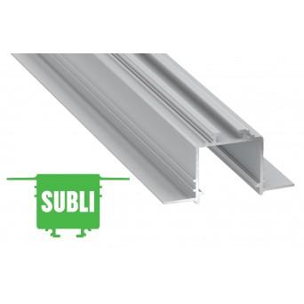 Profilo in alluminio SUBLI grigio