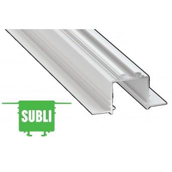 Profilo in alluminio SUBLI bianco
