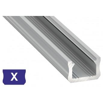 Profilo in alluminio X grigio