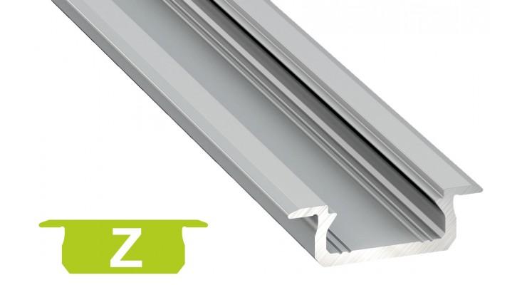 Profilo in alluminio Z grigio